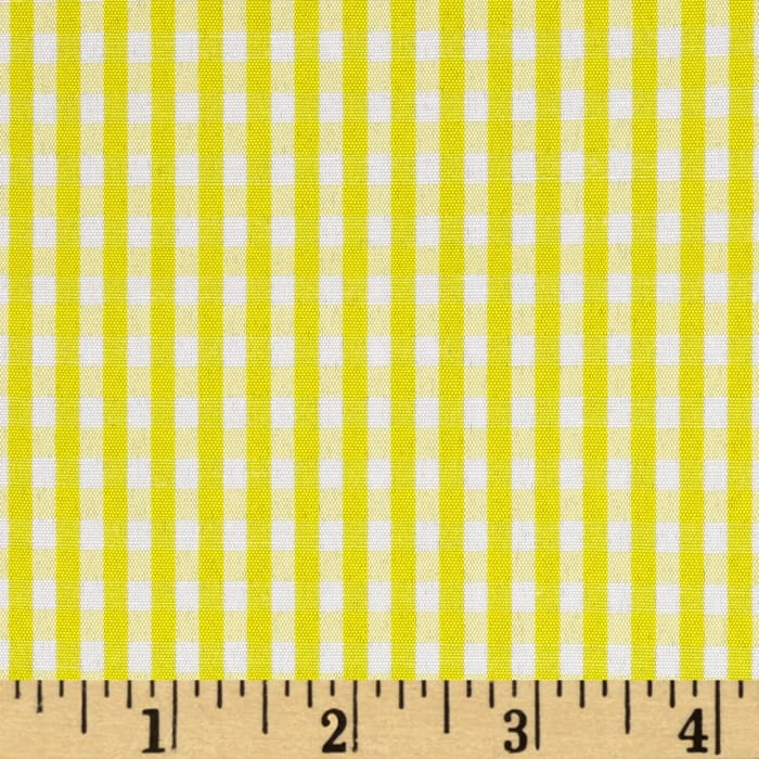 """60"""" Cotton Blend Woven 1/8'' Gingham Yellow"""