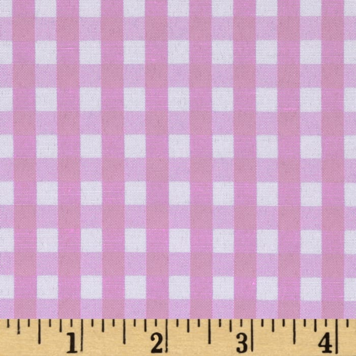 "60"" Cotton Blend Woven 1/4'' Gingham Pink"