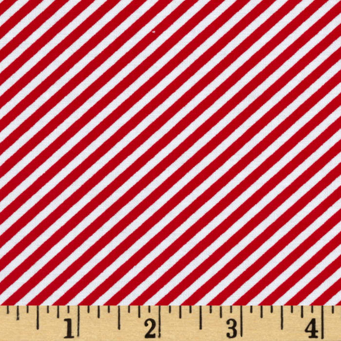 Timeless Treasures Hey Sailor Bias Stripe Red