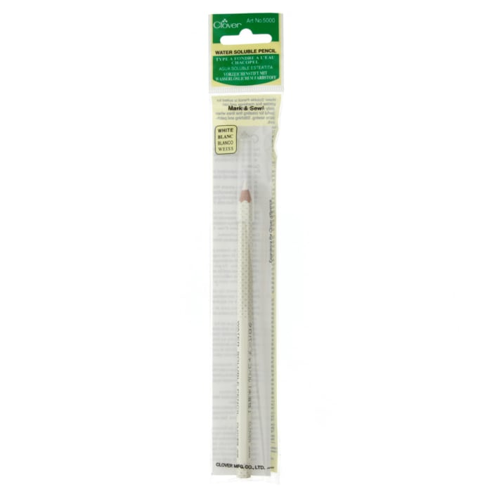 Clover Water Soluble Pencil-White