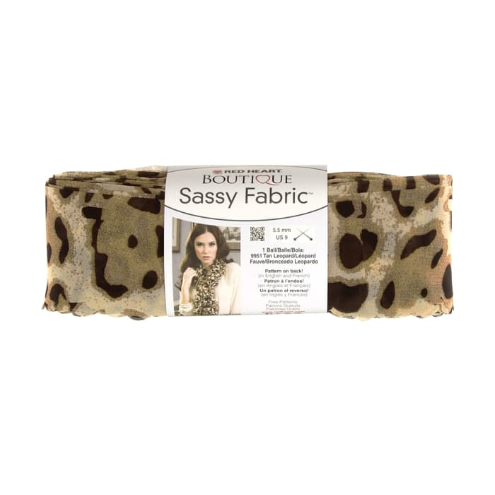Red Heart Yarn Boutique Sassy Fabric Tan Leopard