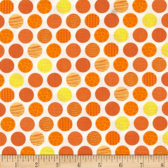 Let's Go Polka Dot Orange