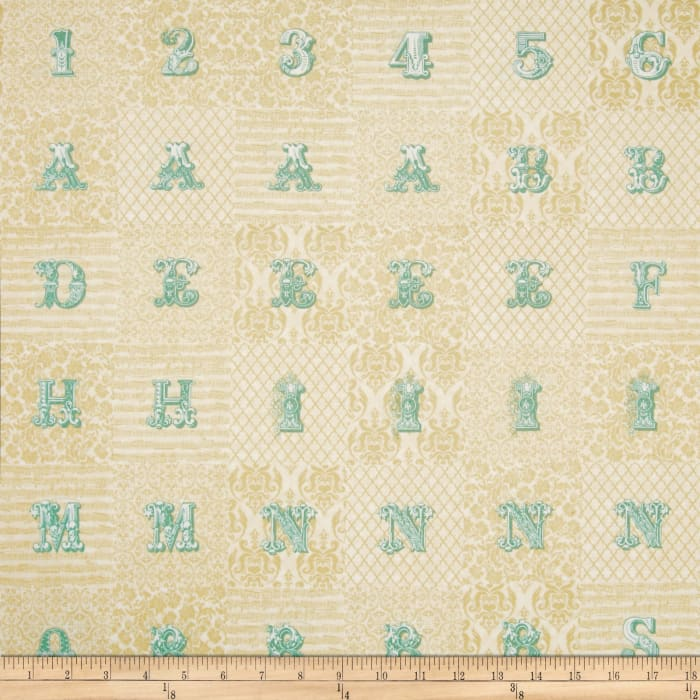 Love Notes Letters Patchwork Cream