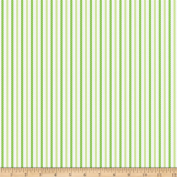 Riley Blake Home for the Holiday's Stripe Green