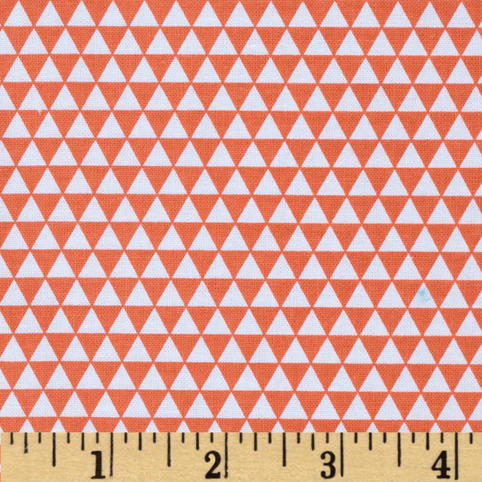 Riley Blake Oh Boy! Triangles Orange