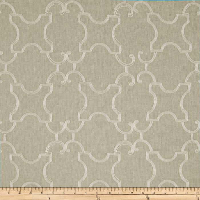 World Wide Faux Linen Sheer Marlee Ivory/Flax