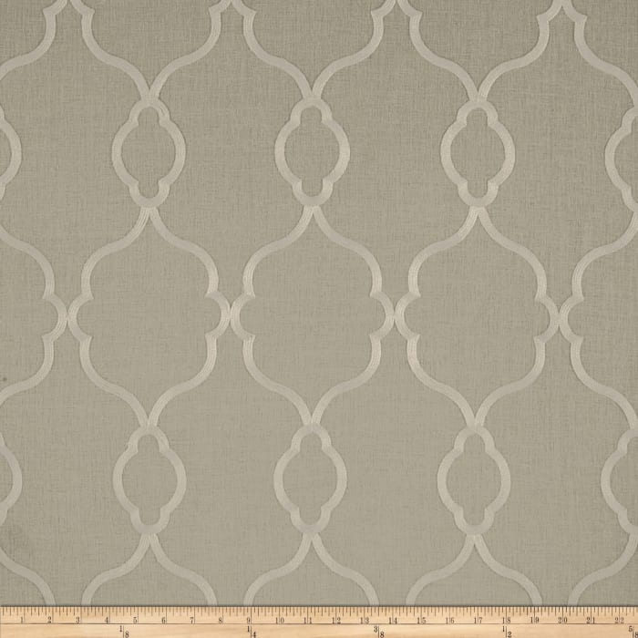 World Wide Faux Linen Sheer Merano Ivory/Flax