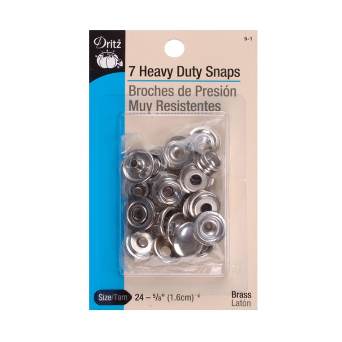 "Dritz Heavy Duty Snaps 5/8"" Nickel"