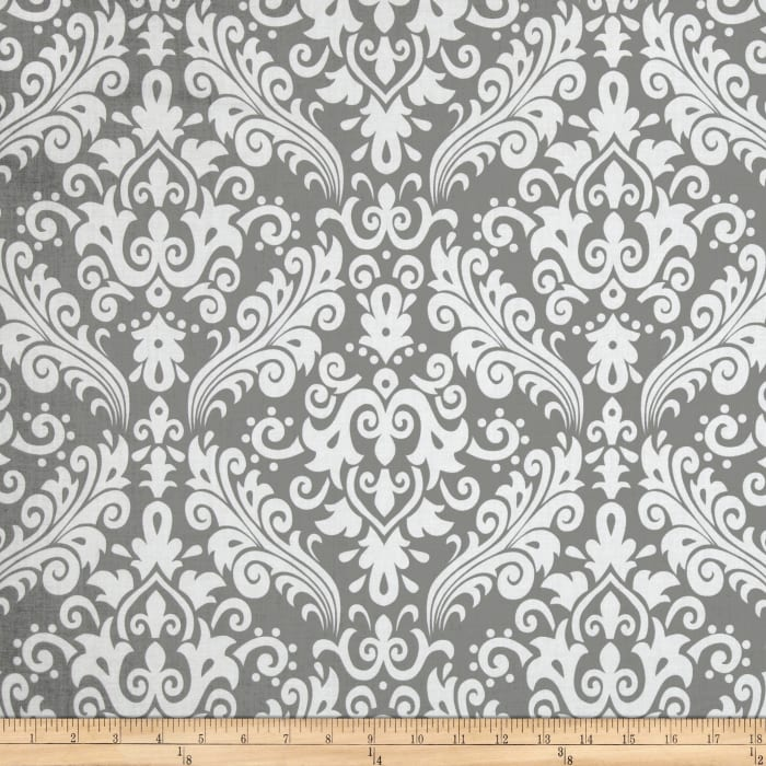 Riley Blake Large Damask Gray