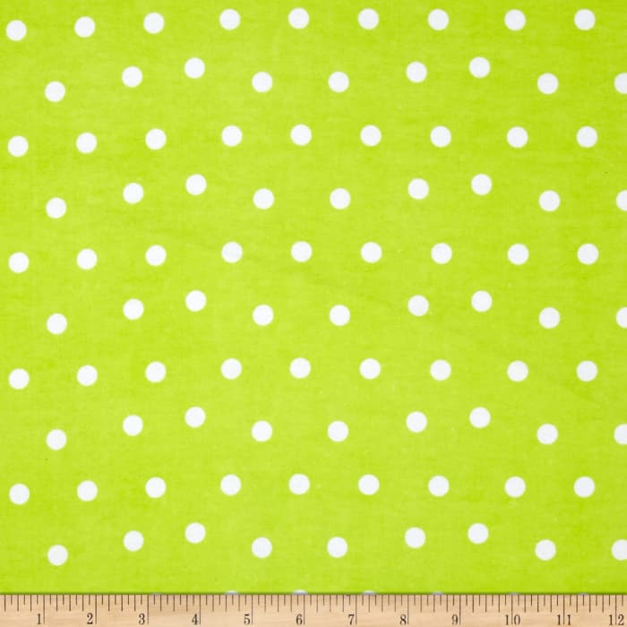 Flannel Dots Lime