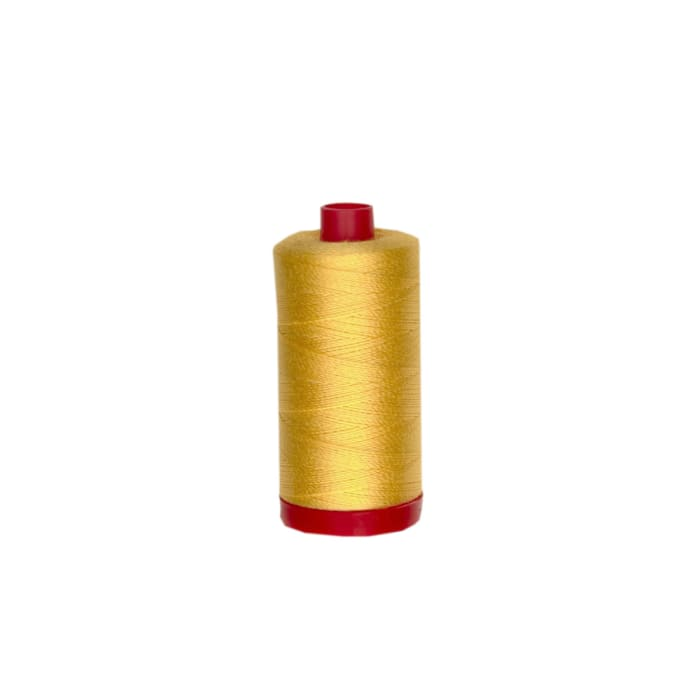 Aurifil 12wt Embellishment and Sashiko Dreams Thread Pale Yellow