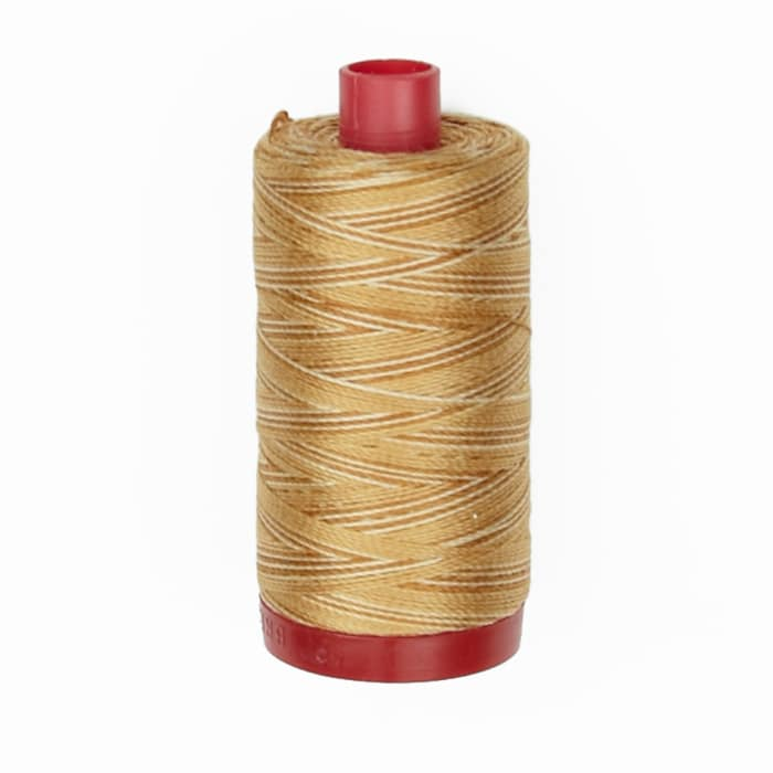 Aurifil 12wt Variegated Embellishment and Sashiko Dreams Thread Crème Brule