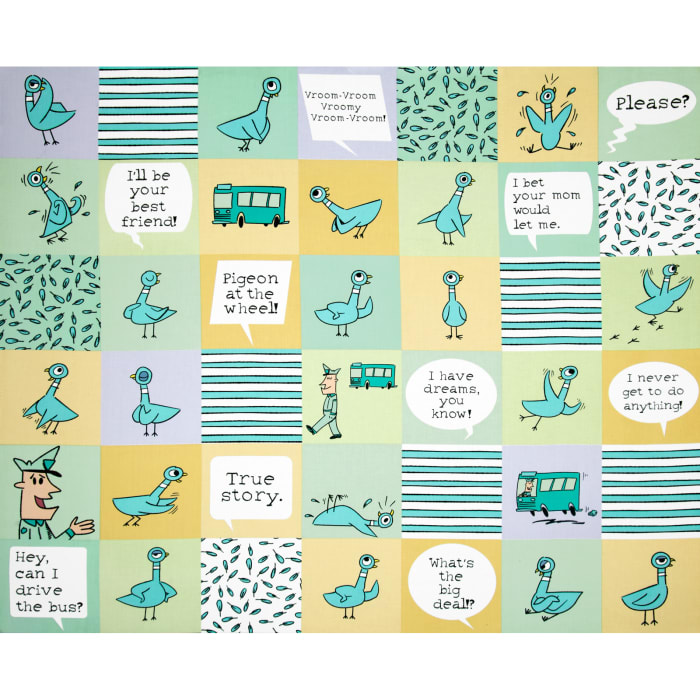 Don't Let the Pigeon Drive Organic Cheater Print Mint/Multi