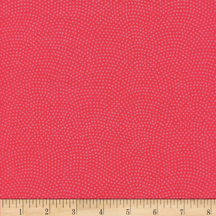 Timeless Treasures Dreaming in Pearle Dots Coral