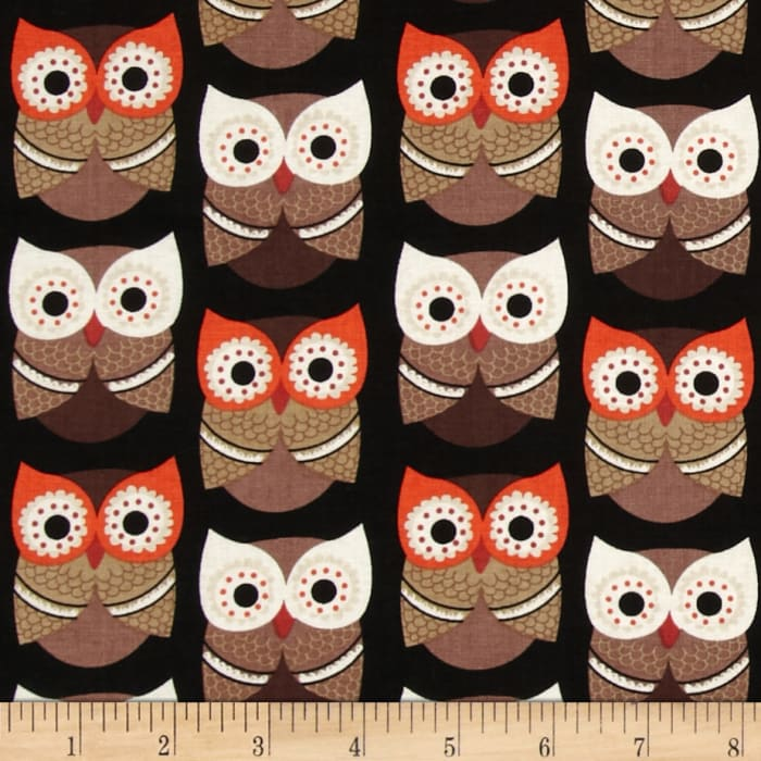 Timeless Treasures Owls Black