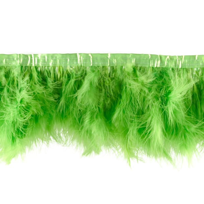 """8"""" Feather Trim Lime Green"""