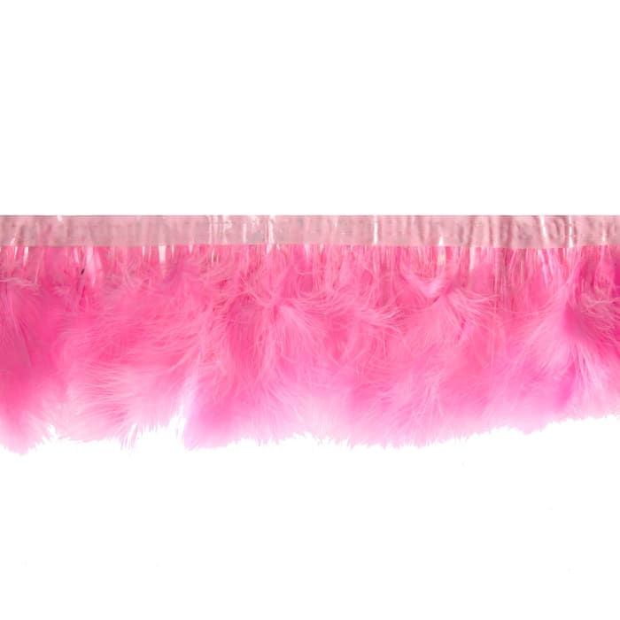 """8"""" Feather Trim Pink"""