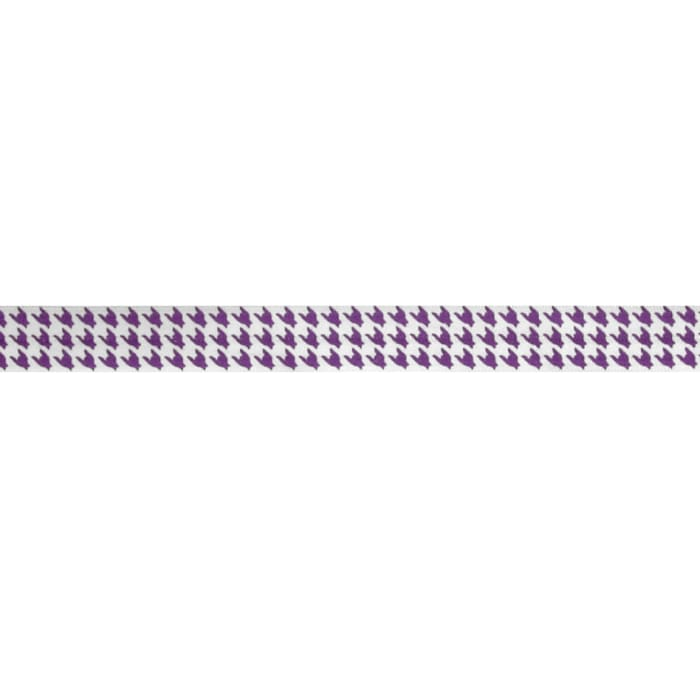 "5/8"" Fold Over Elastic Houndstooth Purple"