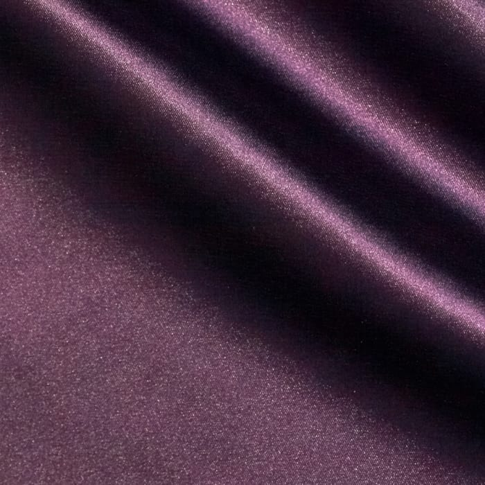 Stretch Charmeuse Satin Plum
