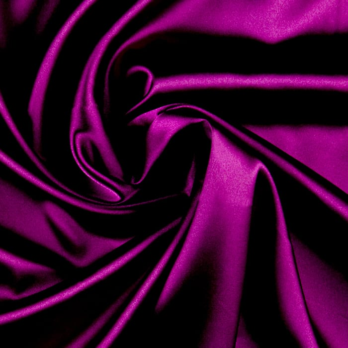 Stretch Charmeuse Satin Jewel Purple