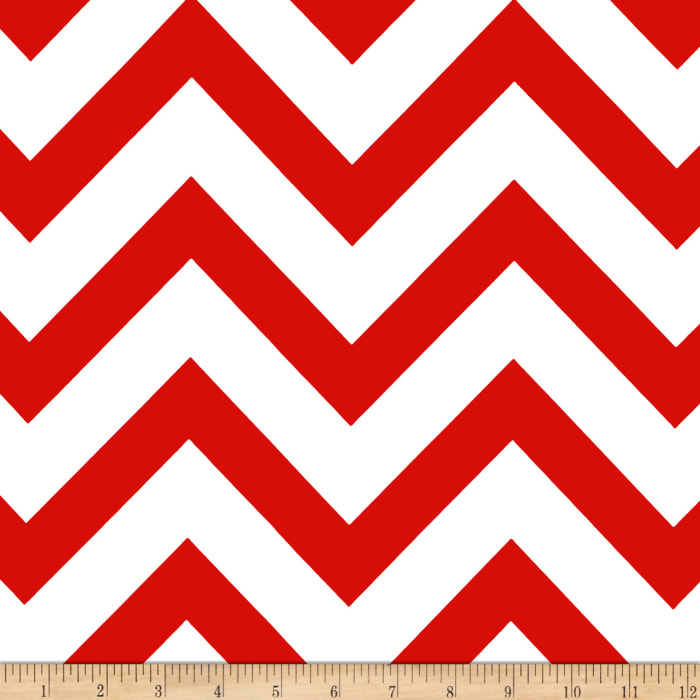 Mi Amor Duchess Satin Chevron Red/White