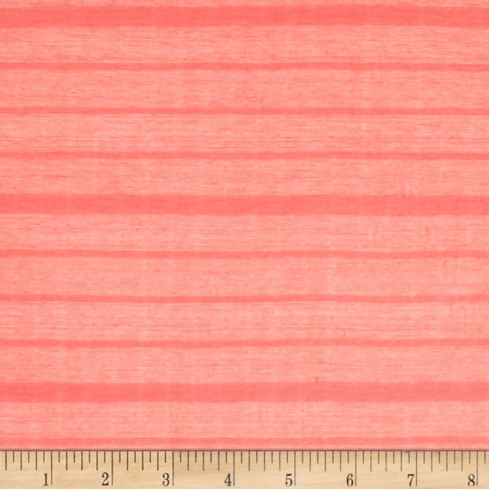 Novelty Knit Sheer Stripe Coral