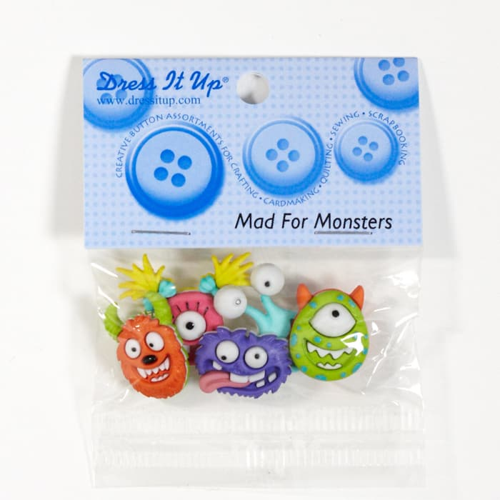 Dress It Up Embellishment Buttons Mad For Monsters