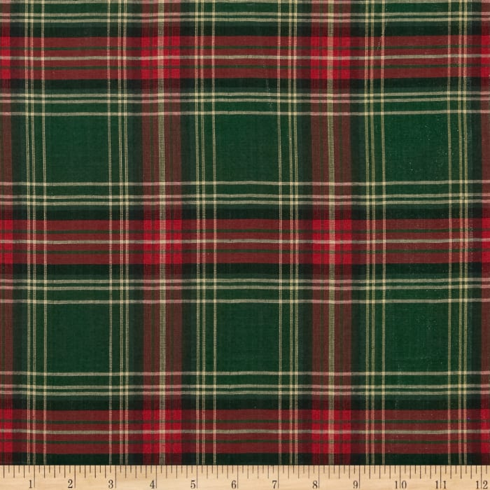 Holiday Blitz Large Plaid Green/Red