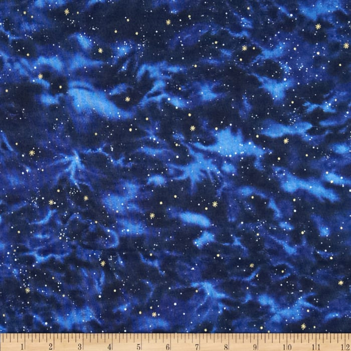 Stargazers sky navy discount designer fabric for Galaxy quilt fabric