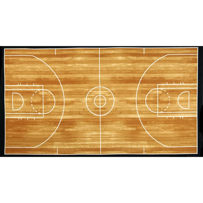 Kaufman Sports Life Basketball Court Brown 24 In. Panel