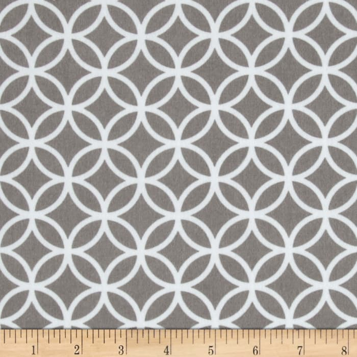 Cozy Cotton Flannel Circle Plaid Grey