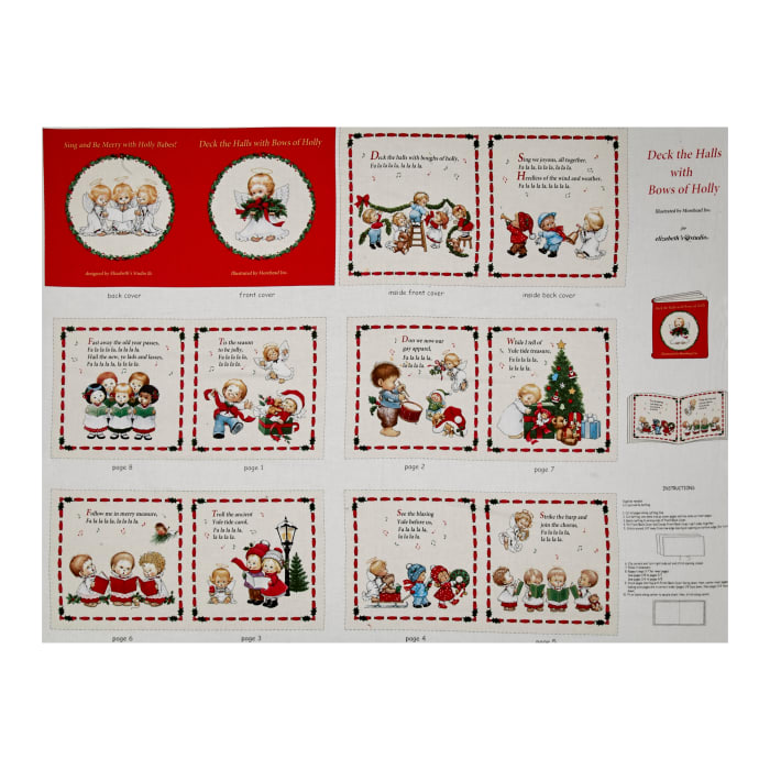 Deck the Halls Soft Book Panel Cream