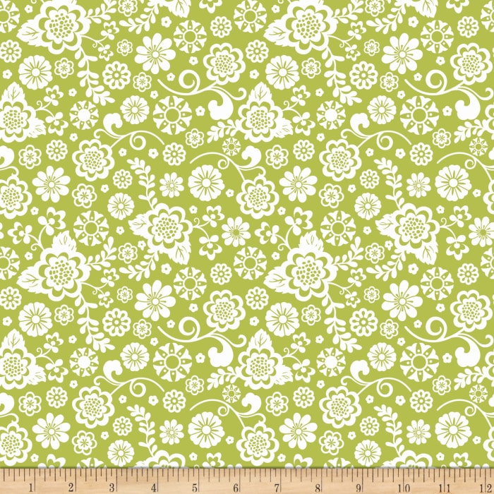 Riley Blake Fancy Free Fancy Floral Green