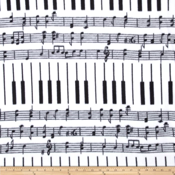 Winterfleece Piano Keys White/Black