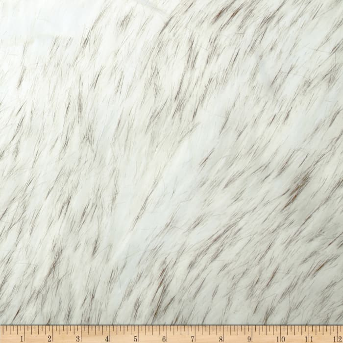 Shannon Faux Fur Norwegian Husky Fur Off-White/Black