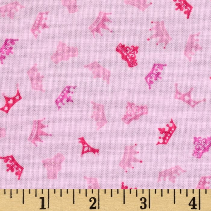 Timeless Treasures Fairy Tale Mini Crown Toss Pink