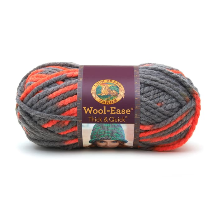 Lion Brand Wool Ease Thick & Quick Prints Yarn Monarch