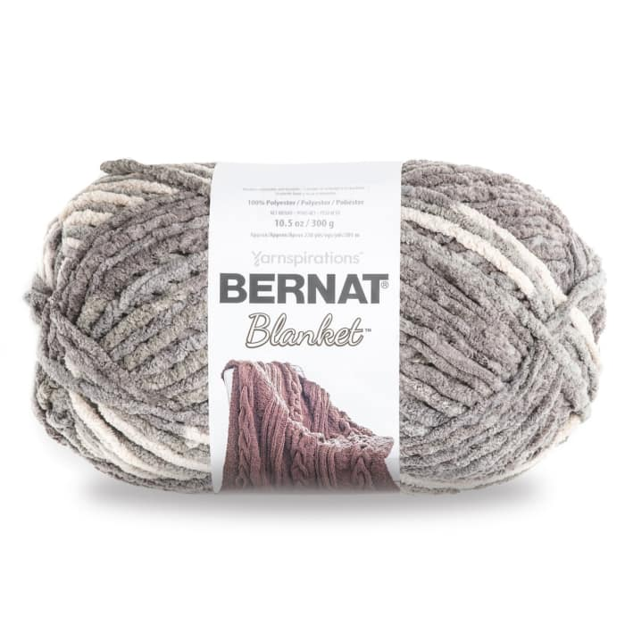 Bernat Blanket Big Ball Yarn (10001) Silver Steel
