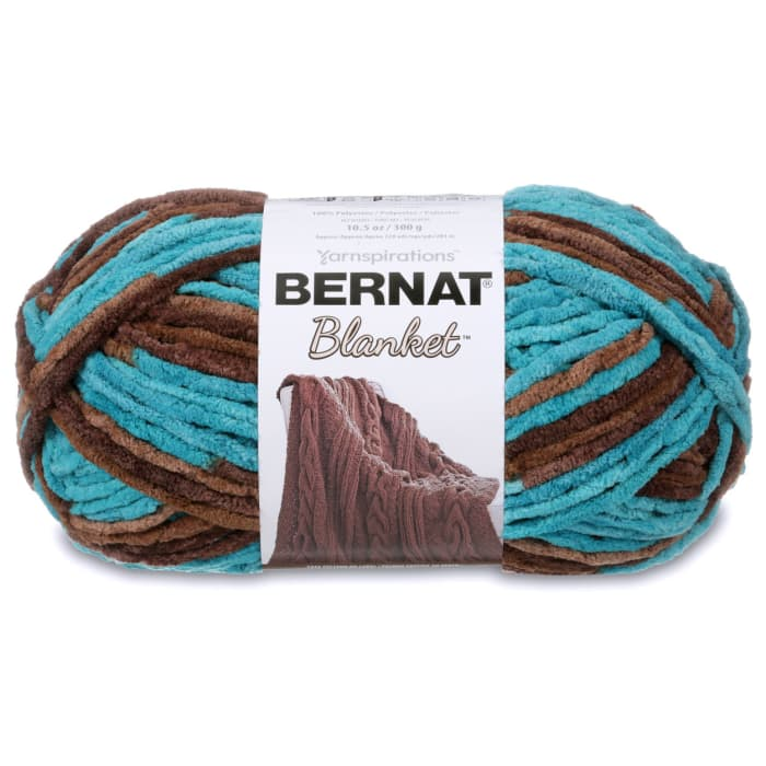 Knitting Patterns Bernat Blanket Yarn : Bernat Blanket Big Ball Yarn (10203) Mallard Wood - Discount Designer Fabric ...