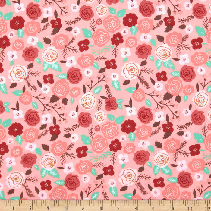 Moda Into the Woods Woodland Blooms Sweet Pink