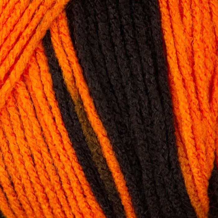 Red Heart Team Spirit Yarn (972) Orange/Black