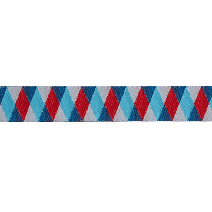 Jessica Jones Harlequin Woven Ribbon Blue/Red