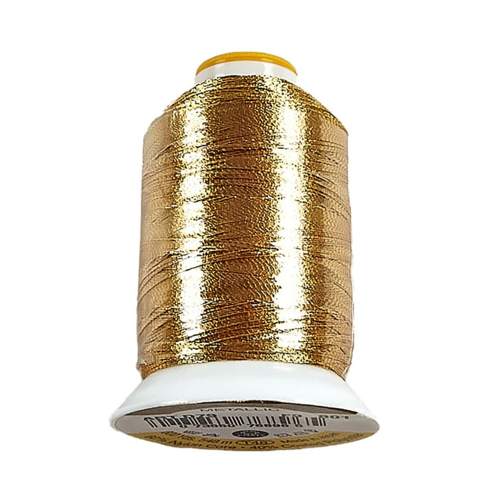 Coats & Clark Metallic Embroidery Thread 600 YD Gold