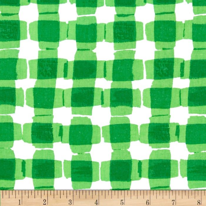 Kanvas Mad For Melon Mod Gingham Green