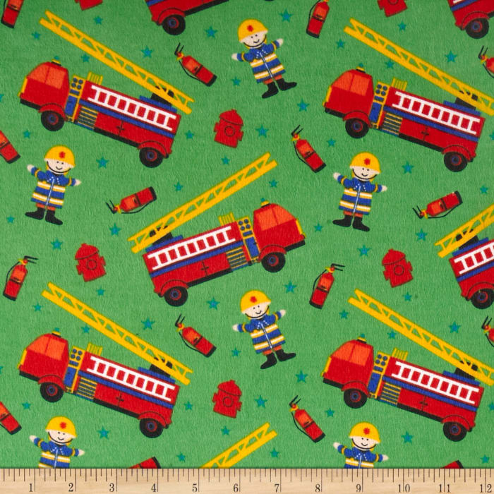 Flannel Prints Fire Chief Green