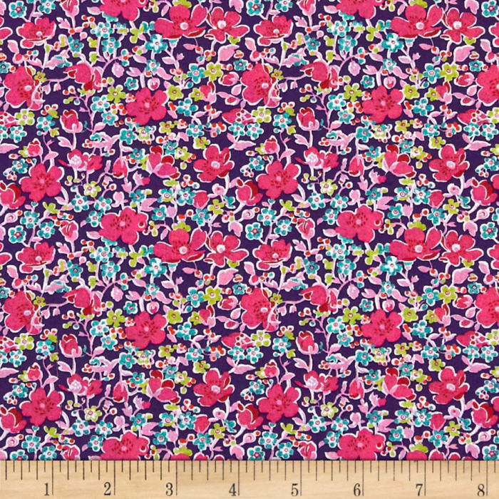 Liberty Fabrics Tana Lawn John Purple/Multi
