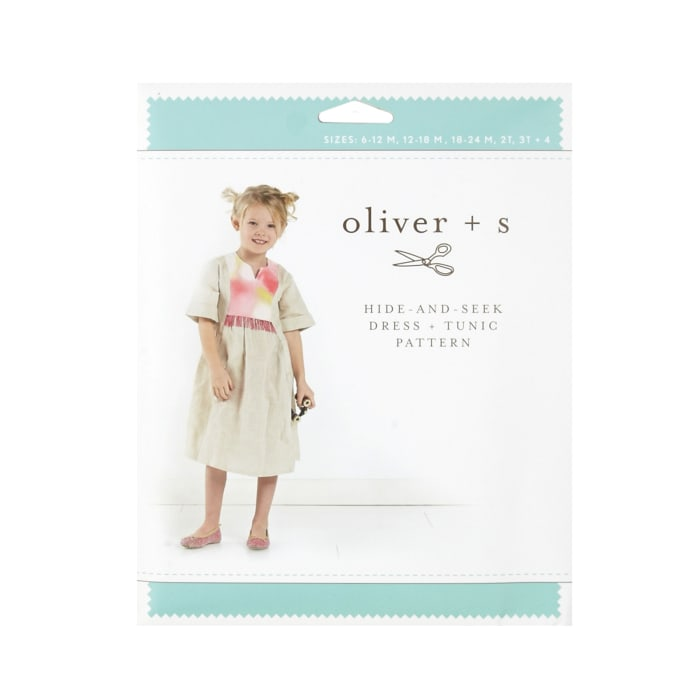 Oliver + S Hide-And-Seek Dress + Tunic Pattern Size 6m-4T