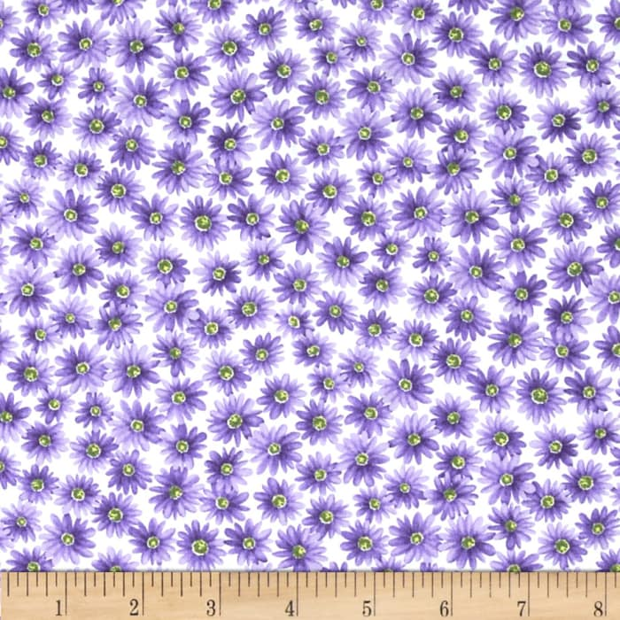 Poppy Panache Daisy White/Purple