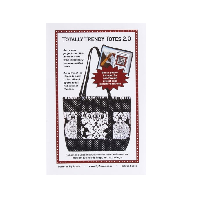 By Annie Trendy Tote Pattern