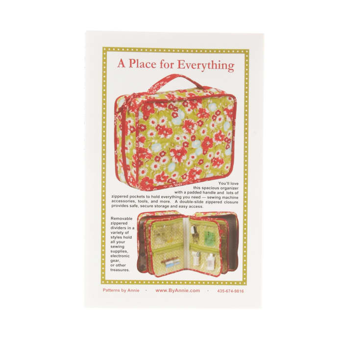 By Annie A Place For Everything Bag Pattern